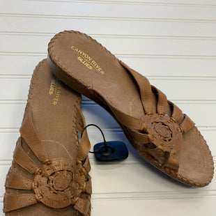 Primary Photo - BRAND: CANYON RIVER BLUES STYLE: SANDALS FLAT COLOR: TAN SIZE: 11 SKU: 117-117136-5716