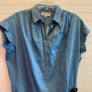 Primary Photo - BRAND: MADEWELL STYLE: TOP SHORT SLEEVE COLOR: DENIM BLUE SIZE: XS OTHER INFO: RETAIL $69 SKU: 117-11711-187546
