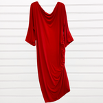 Photo #3 - BRAND:   CMC <BR>STYLE: DRESS SHORT LONG SLEEVE <BR>COLOR: RED <BR>SIZE: 2X <BR>OTHER INFO: QRYSTAL FRAZIER DESIGNS - <BR>SKU: 117-117120-23839