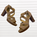 Primary Photo - BRAND:   CMC <BR>STYLE: SANDALS HIGH <BR>COLOR: TAN <BR>SIZE: 9 <BR>OTHER INFO: PAUL GREEN - <BR>SKU: 117-117120-18212