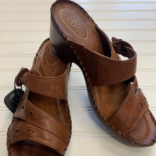 Primary Photo - BRAND: ARIAT STYLE: SANDALS LOW COLOR: BROWN SIZE: 10 OTHER INFO: RETAIL $100+ SKU: 117-11711-185191
