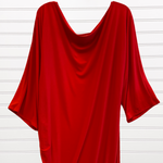 Photo #1 - BRAND:   CMC <BR>STYLE: DRESS SHORT LONG SLEEVE <BR>COLOR: RED <BR>SIZE: 2X <BR>OTHER INFO: QRYSTAL FRAZIER DESIGNS - <BR>SKU: 117-117120-23839