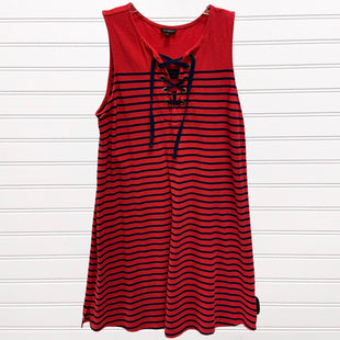 Primary Photo - BRAND: TALBOTS STYLE: DRESS SHORT SLEEVELESS COLOR: RED BLUE SIZE: L SKU: 117-117136-4124