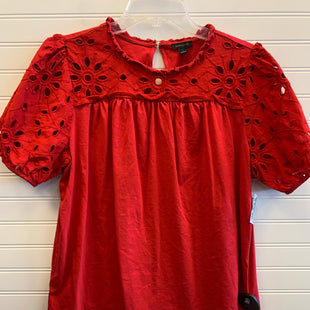 Primary Photo - BRAND: ANN TAYLOR STYLE: TOP SHORT SLEEVE COLOR: RED SIZE: L SKU: 117-117120-24264
