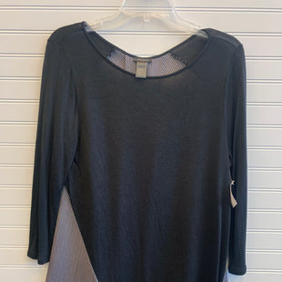 Primary Photo - BRAND: ANN TAYLOR STYLE: TOP LONG SLEEVE COLOR: BLACK WHITE SIZE: L SKU: 117-117103-49799