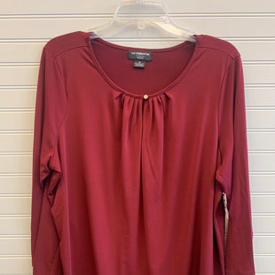 Primary Photo - BRAND: LIZ CLAIBORNE STYLE: TOP LONG SLEEVE COLOR: MAROON SIZE: 1X OTHER INFO: RETAIL $40 / NWT SKU: 117-117136-9616