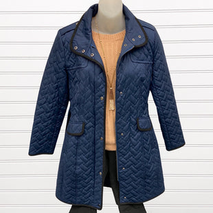 Primary Photo - BRAND: COLE-HAAN STYLE: COAT LONG COLOR: NAVY SIZE: S OTHER INFO: NWT DESIGNER SKU: 117-117120-19724