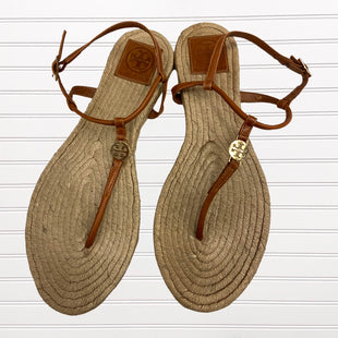 Primary Photo - BRAND: TORY BURCH STYLE: SANDALS FLAT COLOR: BROWN SIZE: 9 OTHER INFO: AS IS SKU: 117-117136-6766