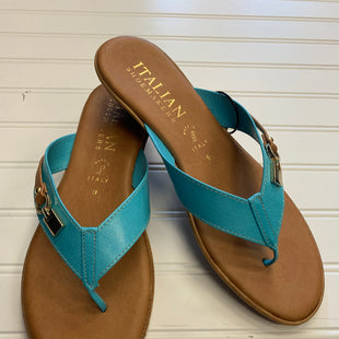 Primary Photo - BRAND: ITALIAN SHOEMAKERS STYLE: SANDALS LOW COLOR: TEAL SIZE: 9 SKU: 117-117120-29077