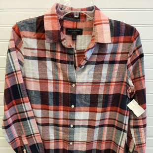 Primary Photo - BRAND: BANANA REPUBLIC STYLE: TOP LONG SLEEVE COLOR: PLAID SIZE: S SKU: 117-117103-52788