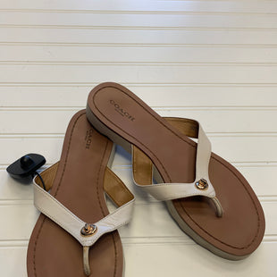 Primary Photo - BRAND: COACH STYLE: SANDALS FLAT COLOR: WHITE SIZE: 9 OTHER INFO: AS IS SKU: 117-117103-54221