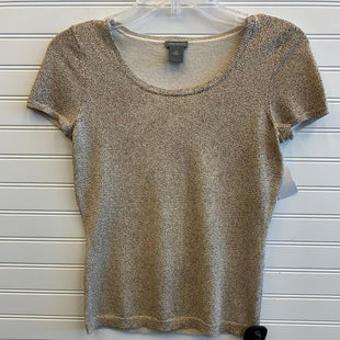 Primary Photo - BRAND: ANN TAYLOR STYLE: TOP SHORT SLEEVE COLOR: GOLD SIZE: PETITE   XS SKU: 117-117136-7660
