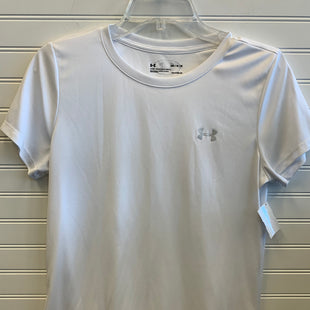 Primary Photo - BRAND: UNDER ARMOUR STYLE: ATHLETIC TOP SHORT SLEEVE COLOR: WHITE SIZE: M SKU: 117-117120-24274