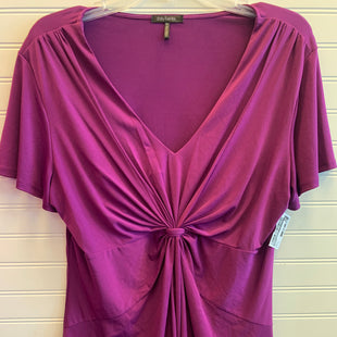 Primary Photo - BRAND: DAISY FUENTES STYLE: TOP SHORT SLEEVE COLOR: PLUM SIZE: XL SKU: 117-117136-12854