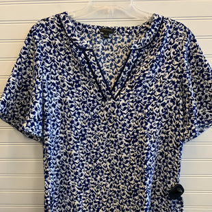 Primary Photo - BRAND: ANN TAYLOR STYLE: TOP SHORT SLEEVE COLOR: BLUE WHITE SIZE: S SKU: 117-117120-24077