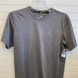 Primary Photo - BRAND: ADIDAS STYLE: ATHLETIC TOP SHORT SLEEVE COLOR: GREY SIZE: S SKU: 117-11783-98380