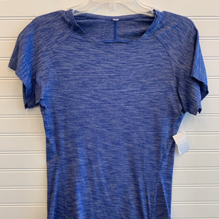 Primary Photo - BRAND: LULULEMON STYLE: ATHLETIC TOP SHORT SLEEVE COLOR: BLUE SIZE: 6 SKU: 117-117120-21056