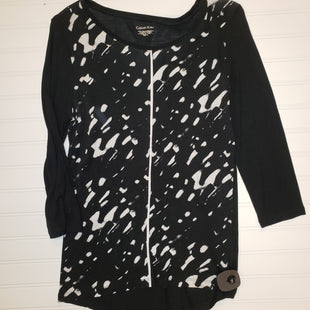 Primary Photo - BRAND: CALVIN KLEIN STYLE: TOP LONG SLEEVE COLOR: BLACK WHITE SIZE: M SKU: 117-117136-7101