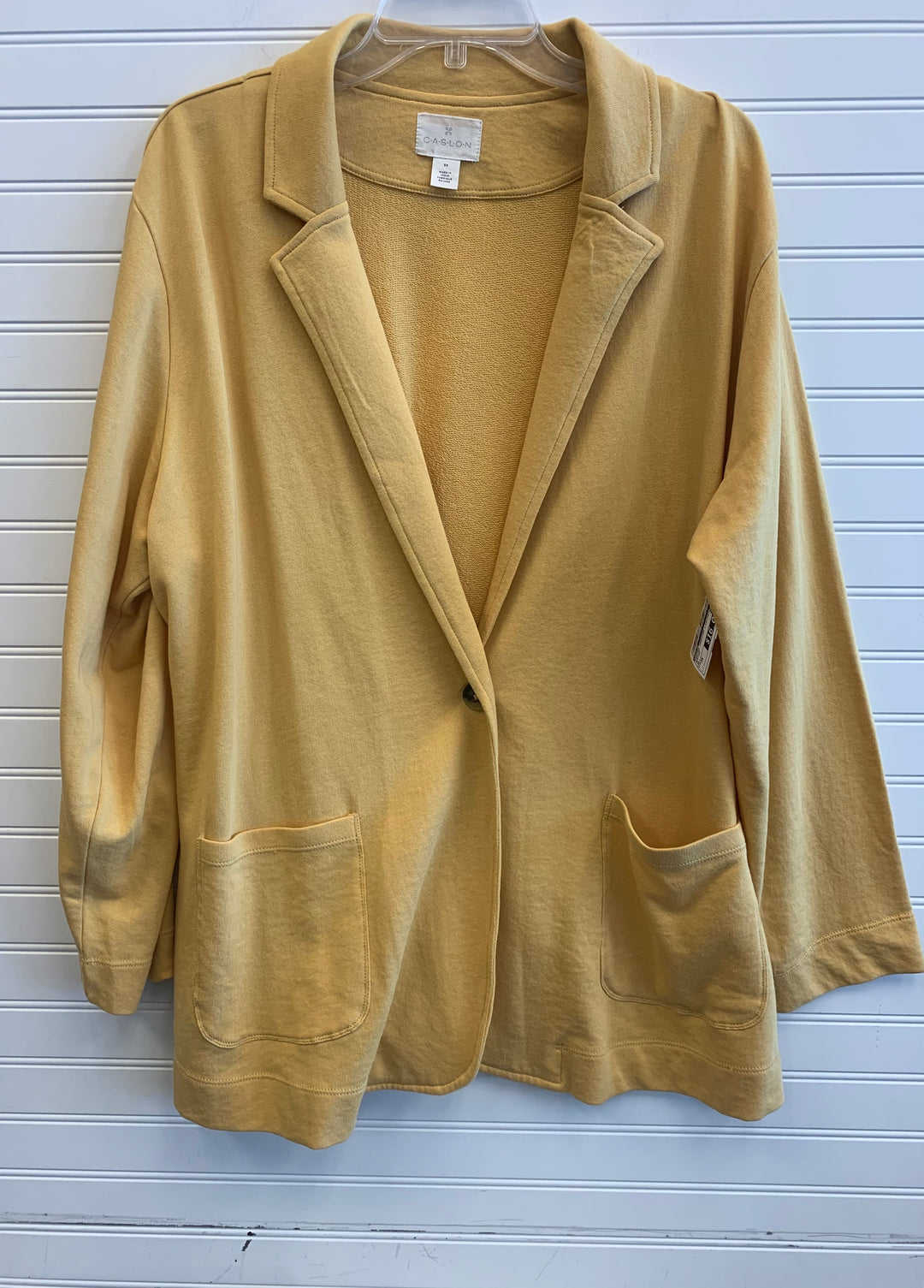 Primary Photo - BRAND: CASLON <BR>STYLE: SWEATER CARDIGAN LIGHTWEIGHT <BR>COLOR: MUSTARD <BR>SIZE: 3X <BR>SKU: 117-117136-10003