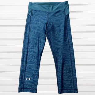 Primary Photo - BRAND: UNDER ARMOUR STYLE: ATHLETIC CAPRIS COLOR: TEAL SIZE: S SKU: 117-117136-6456