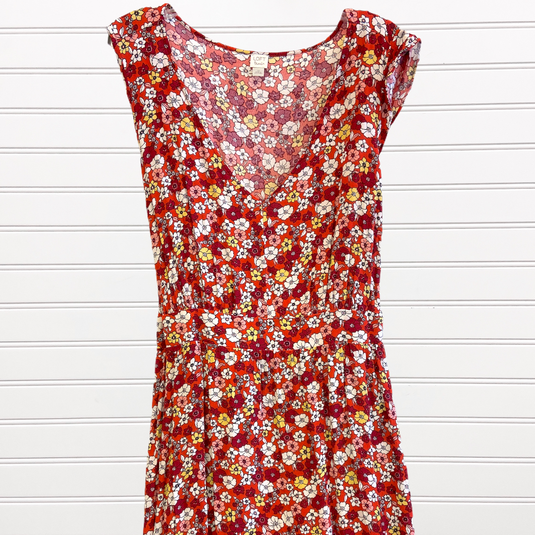Photo #1 - BRAND: LOFT <BR>STYLE: DRESS SHORT SLEEVELESS <BR>COLOR: MULTI <BR>SIZE: 22 <BR>SKU: 117-117136-4472