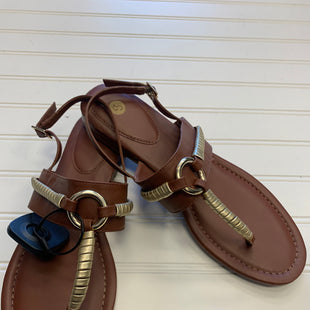 Primary Photo - BRAND: DRESS BARN STYLE: SANDALS FLAT COLOR: BROWN SIZE: 10 SKU: 117-11711-184392