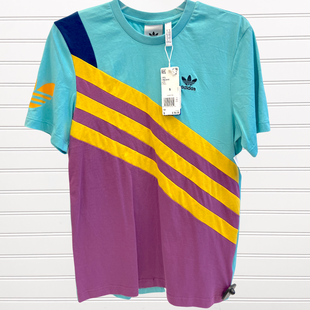 Primary Photo - BRAND: ADIDAS STYLE: ATHLETIC TOP SHORT SLEEVE COLOR: MULTI SIZE: S SKU: 117-117103-50597
