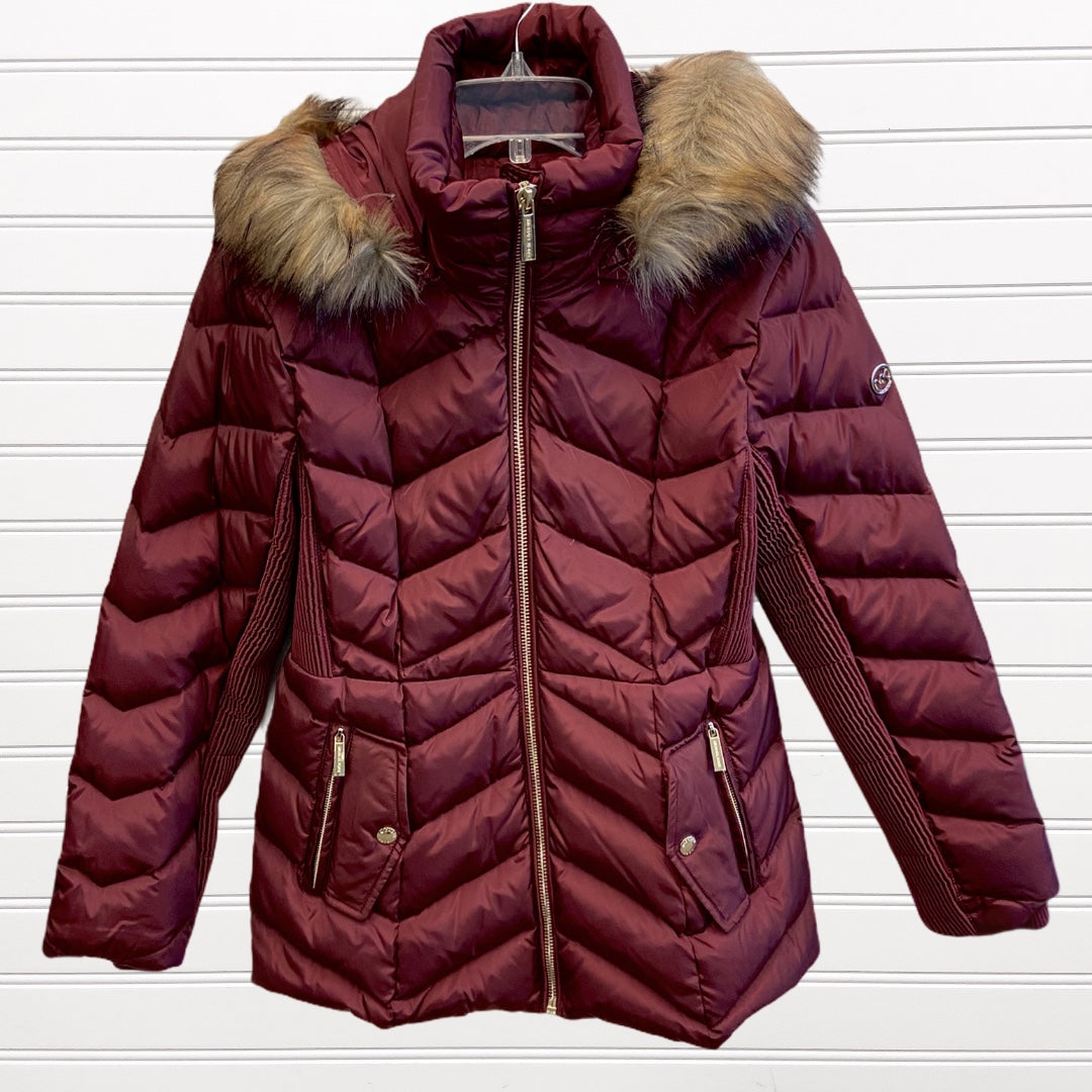 Photo #1 - BRAND: MICHAEL BY MICHAEL KORS <BR>STYLE: COAT LONG <BR>COLOR: BURGUNDY <BR>SIZE: M <BR>SKU: 117-117135-65R