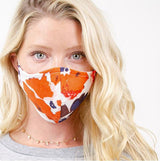 Ivory Floral Face Mask Cotton/Linen