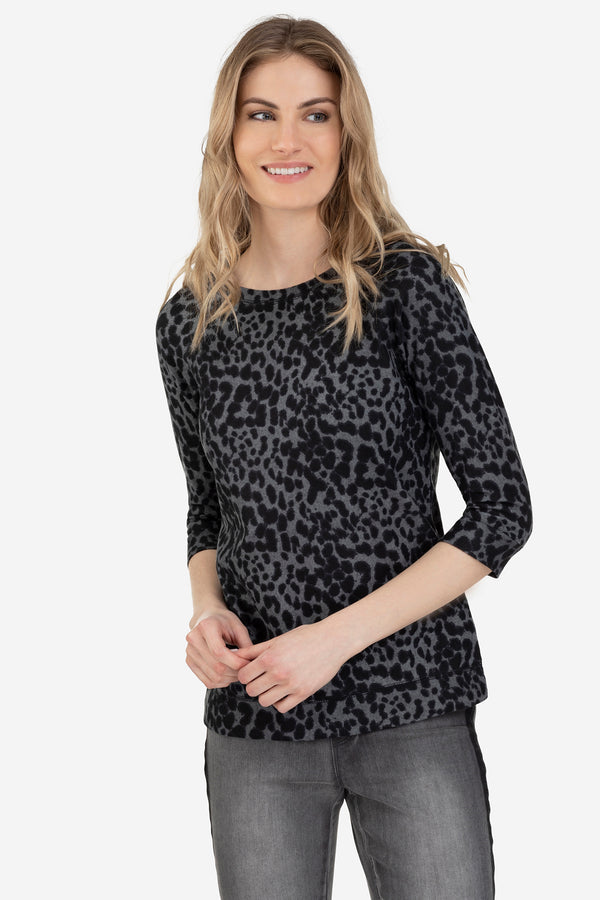 Leopard Fleecy Pullover by Tribal