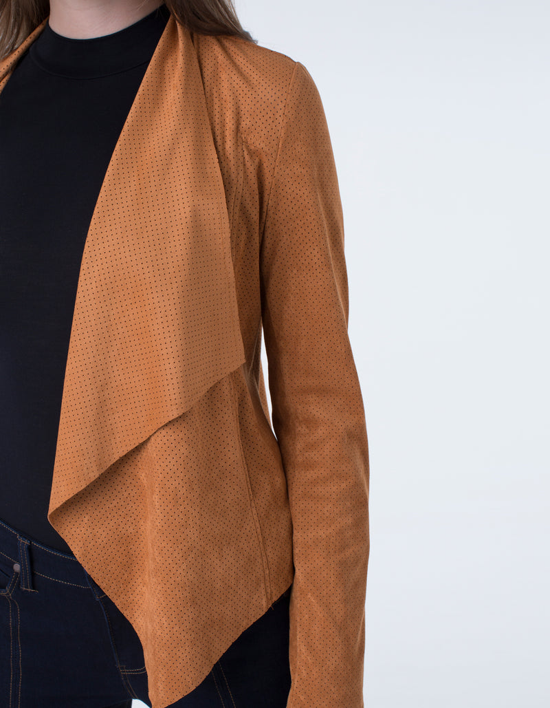 Liverpool Draped suede jacket