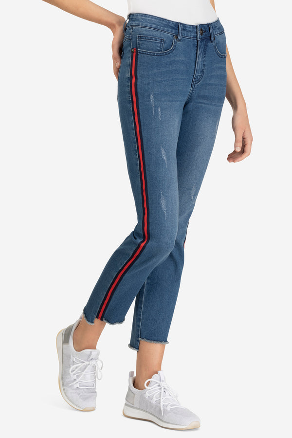 Athletic Stripe Jeans by Tribal