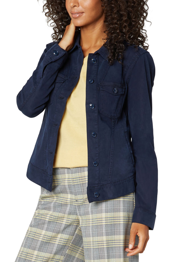 Classic Jacket with Angled Seaming