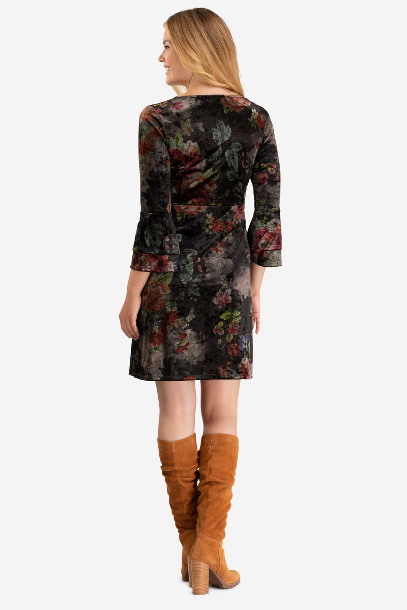 Velvet Floral Dress by Tribal