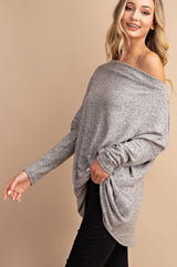 On or Off the Shoulder Fleece Tunic