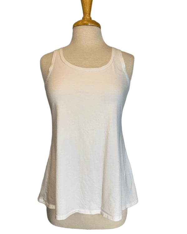 Cut Loose A-Line White Tank Top
