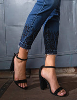 Abby Ankle Embroidered Jean