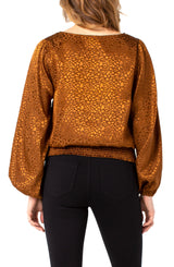 Liverpool Amber Blouse with Smocked Waistband