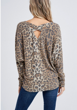 V-neck Leopard Tunic