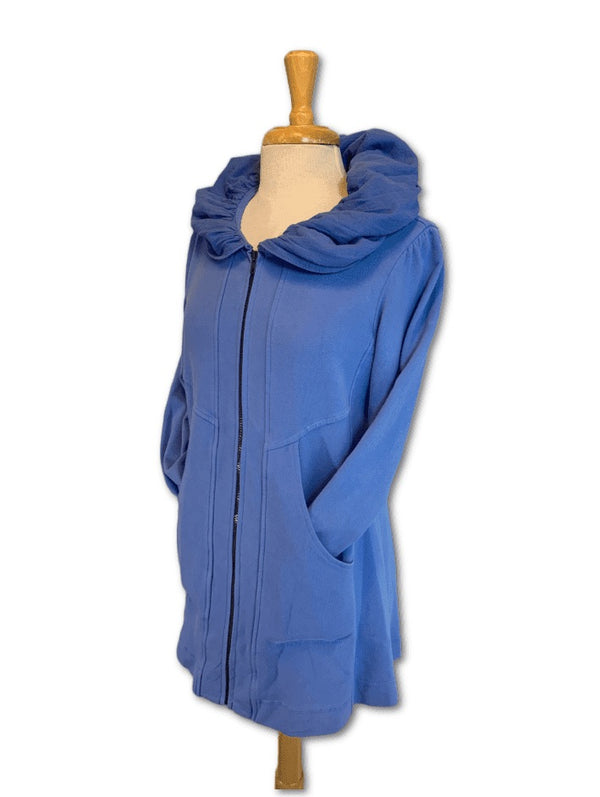 Mid-Length Cotton Hoodie
