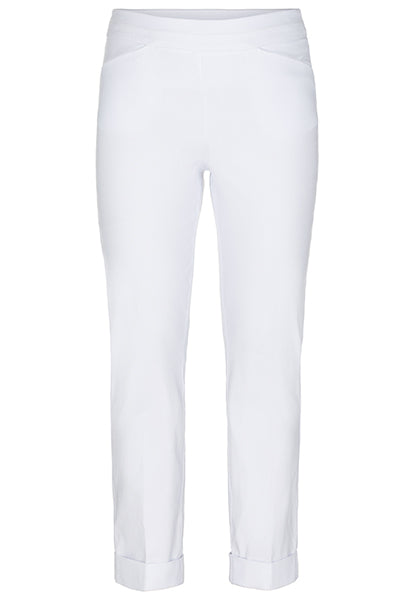 Tribal Pull-On Cuffed Cigarette Pant Black or White