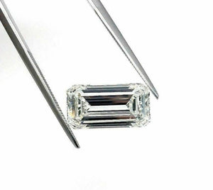 Loose GIA Diamond - Large 5.11 Carats GIA Emerald Cut H VS1 Diamond 14mm Length