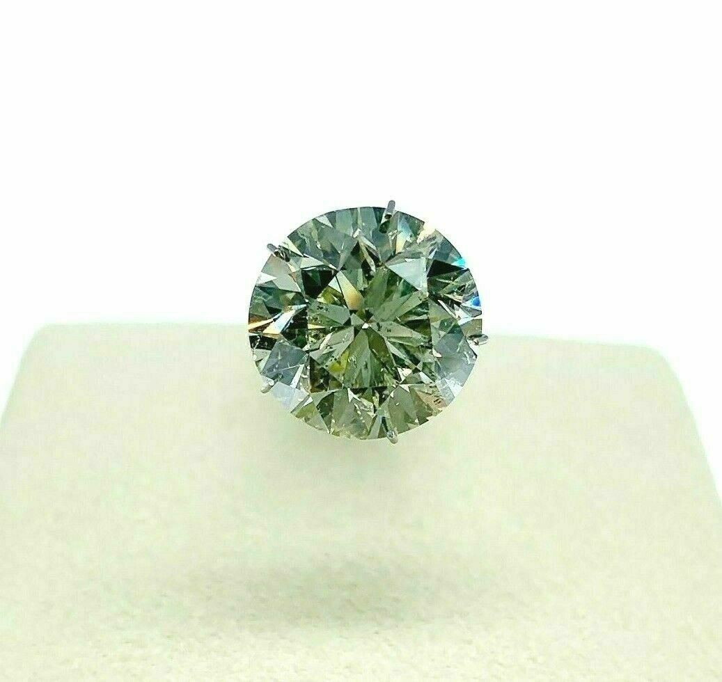 Loose AGS Diamond Very Large 6.99 Carats Round Brilliant Cut M SI2 12mm Diameter