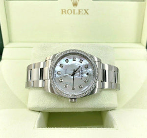 Rolex Air-King Midsize 34MM Lady Diamond Dial & Bezel Oyster Band Steel Watch