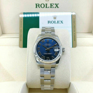 Rolex 31MM Midsize Datejust Watch 18K Gold Stainless Ref # 178274 Oyster Band