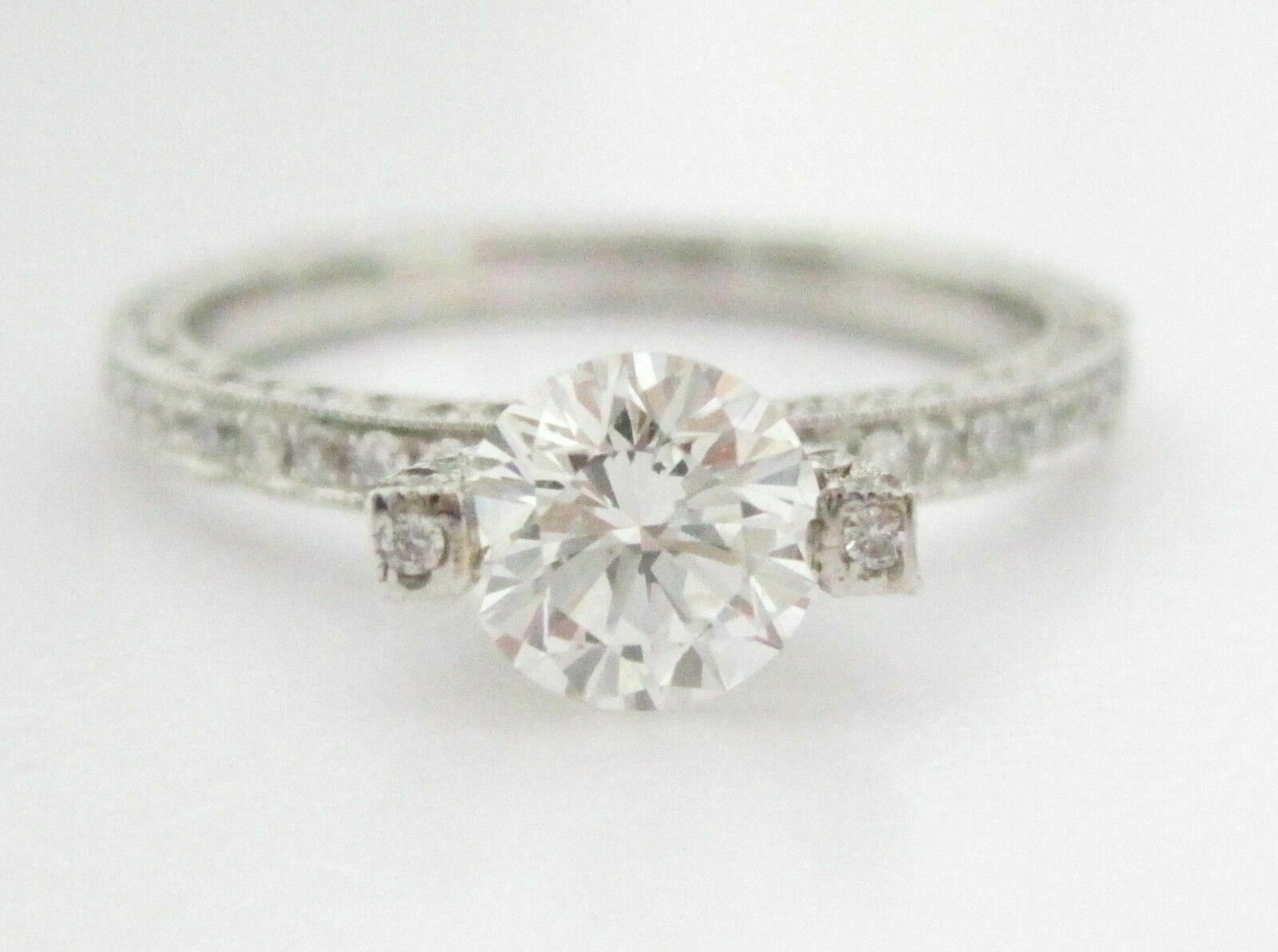 EGL Certified Center .81ct Round Cut Diamond Solitaire Engagement Ring Size 7