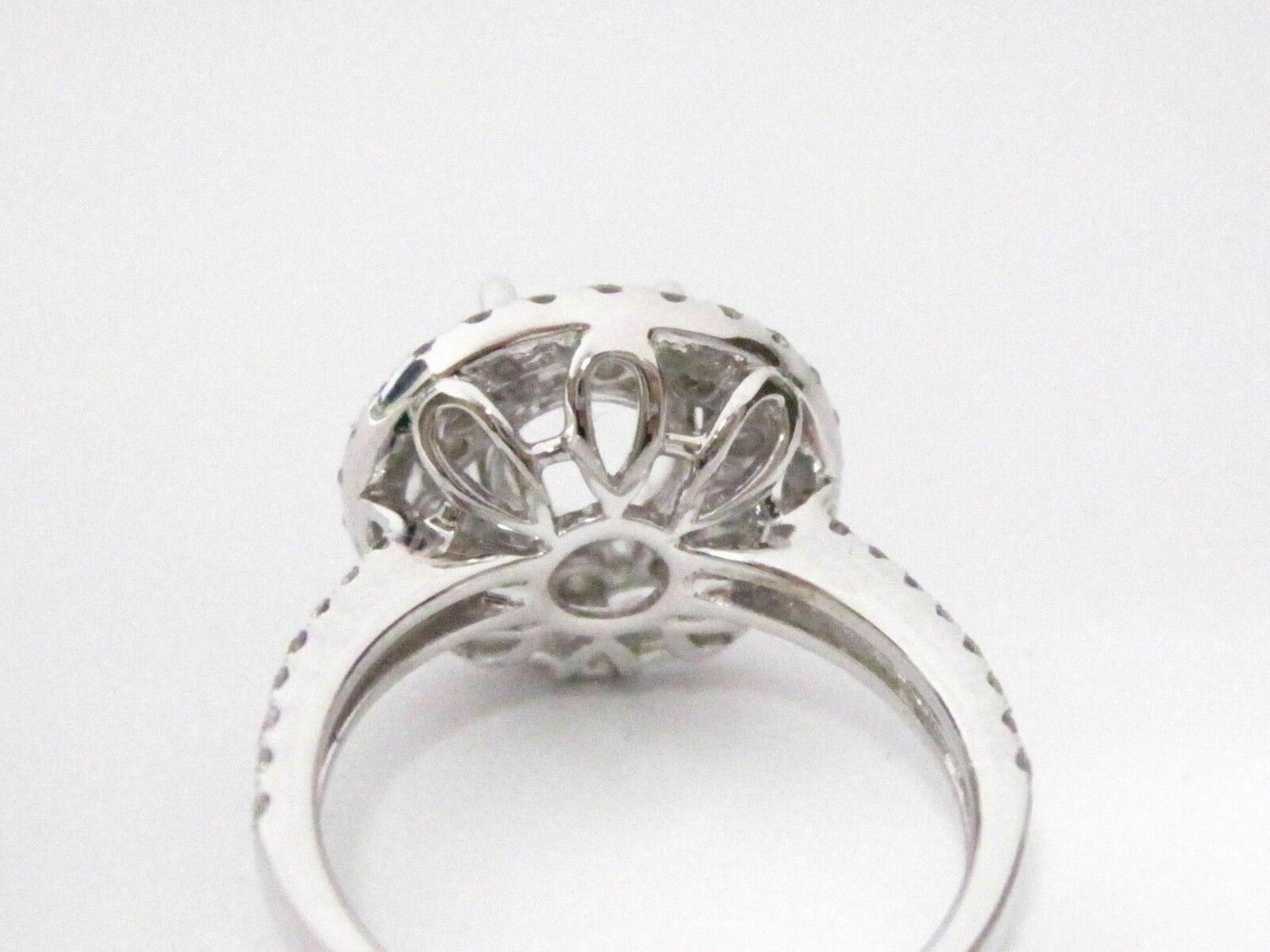 Fine 1.47 TCW 4 Prongs Semi-Mounting Round Brilliant Diamond Engagement Ring