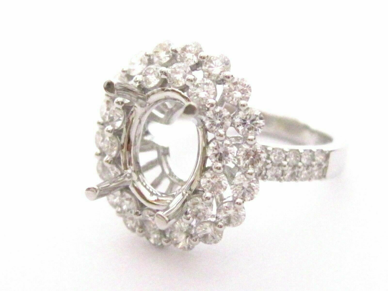 4 Prong Semi-Mounting Engagement Ring for Round or Oval Diamond 18k F-VS2