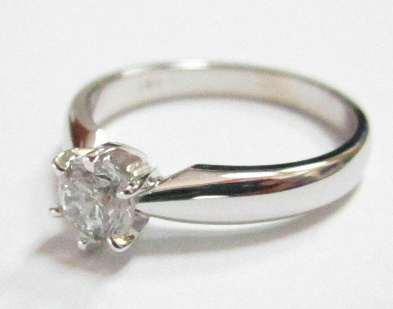 .51Ct Round Brilliant Cut Diamond Solitaire Engagement Ring Size 5.5 w/ CERT
