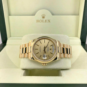 Rolex Day Date President 36mm Watch 118238 Box and Papers Double Quick Set